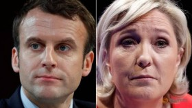 Macron tops French election, to fight Le Pen for presidency