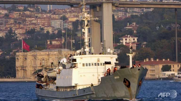 All 78 saved as Russian spy ship sinks off Turkey