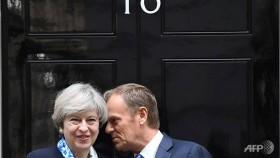 EU's Tusk says Brexit talks must settle 'people, money, Ireland' first