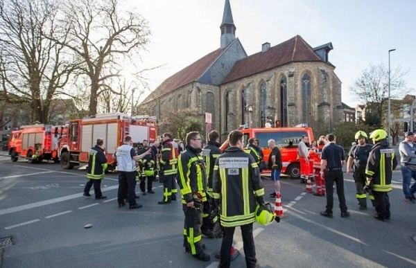 man drives into crowd in germany at least two dead