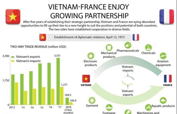 vietnam france enjoy growing partnership