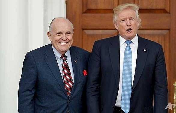 Former New York mayor Giuliani joins Trump legal team