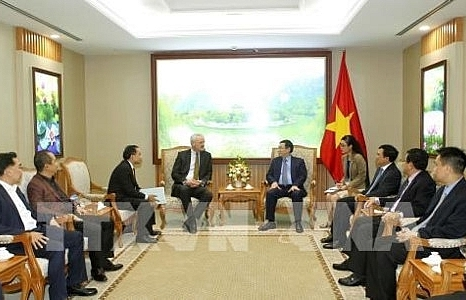 deputy pm receives german talanx ag groups deputy chairman