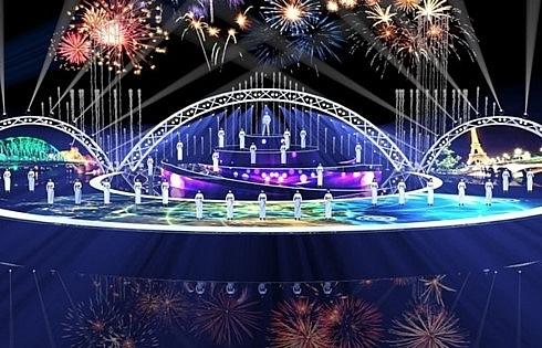 stunning light shows at danang fireworks festival
