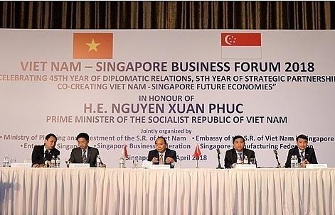 pm attends vietnam singapore business forum