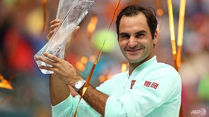 federer goes fourth in rankings after miami triumph
