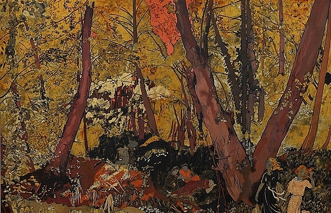 vietnamese style lacquer paintings sell for high prices at sothebys
