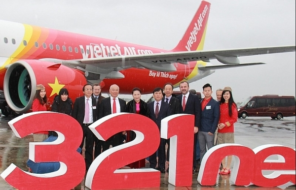 vietjet receives flagship airbus a321neo aircraft