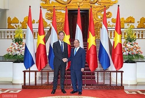 photos vietnamese dutch pms hold talks