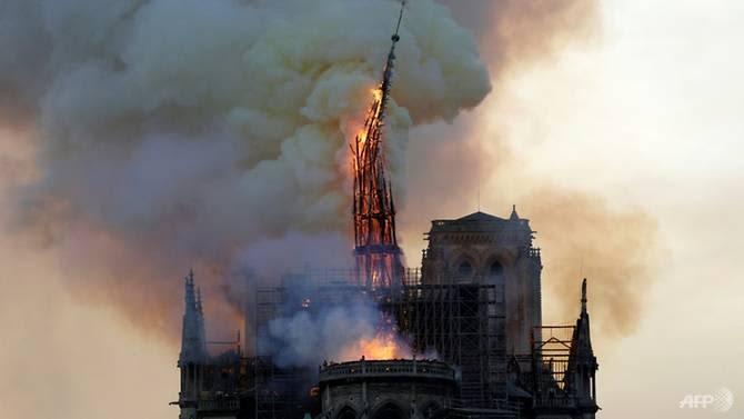 notre dame of paris saved after fire destroys steeple