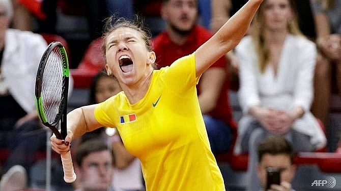 france edge romania to set up fed cup final against australia