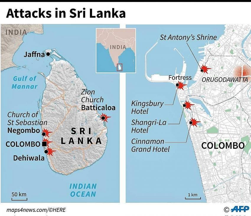 sri lanka under curfew after bomb blasts as death toll surpasses 200