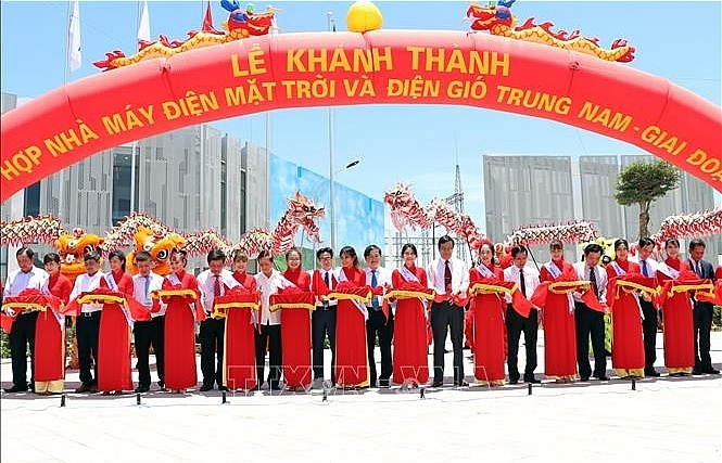 cluster of solar power plants inaugurated in ninh thuan