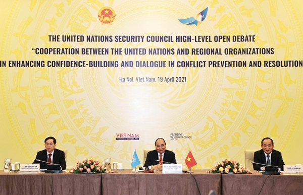 new state president stresses faith in unsc