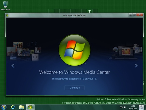 Windows 8 Media Center