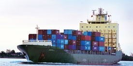 shipping firms hit by big waves