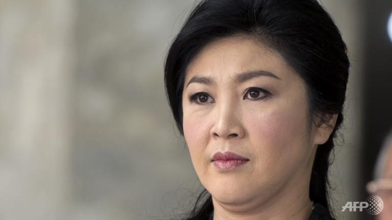 Thailand's deposed premier Yingluck faces politics ban