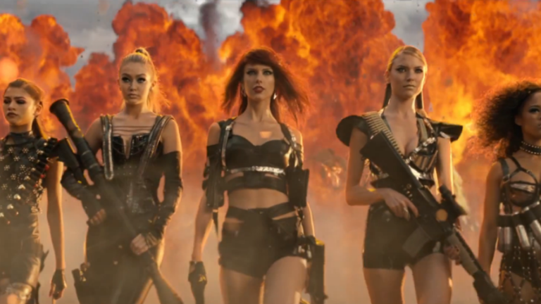 Taylor Swift goes rap and action hero in new video