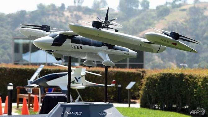 uber shows off its vision for future flying taxi