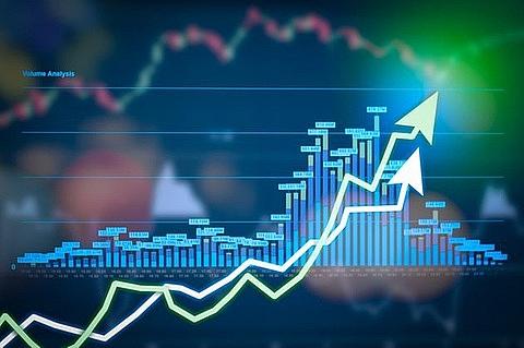 shares gain on energy banking stocks