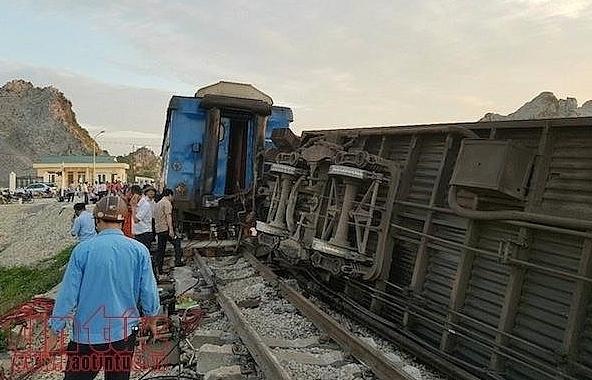 train crashes into truck in central vietnam killing 2