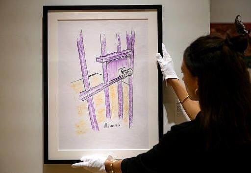 mandela prison drawing sells for 112575 in new york