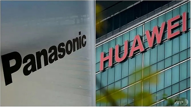 panasonic halting business with huawei after us ban