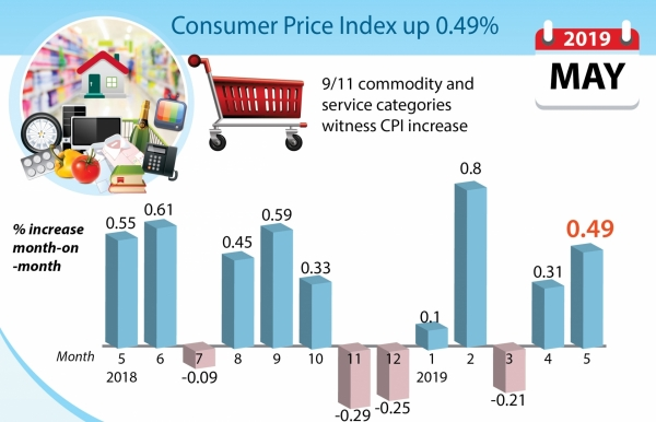 consumer price index up 049 pc
