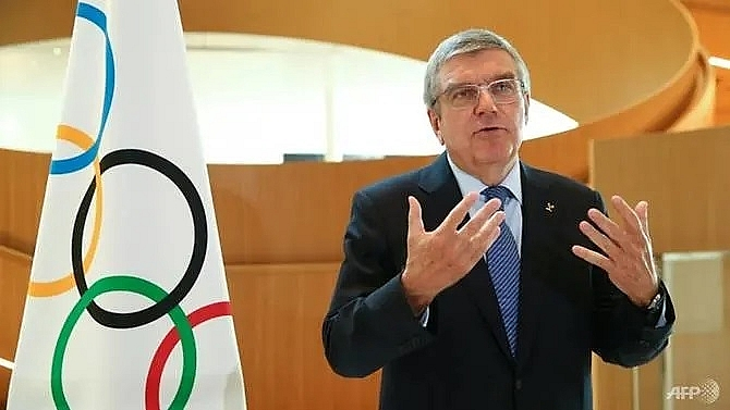olympic chief bach consults with ioc members over covid 19 fallout