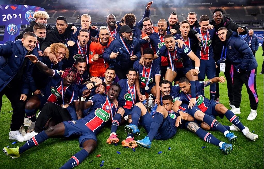 paris saint germain win french cup in domestic double bid