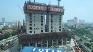 lotte centre reaches for the sky