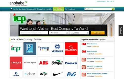 Anphabe JSC launches Vietnam Best Company To Work portal