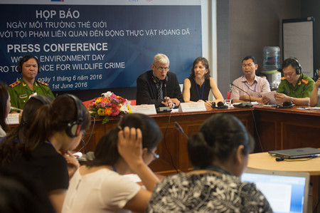 unodc press conference on combating wildlife crime