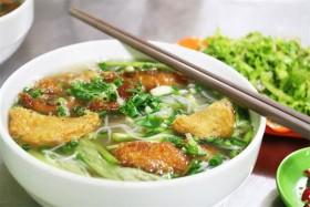 The estuary of rice noodle soups