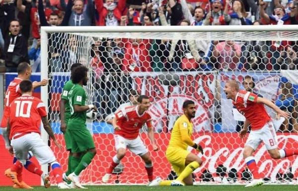 world cup cheryshev stars as russia rout saudi arabia in opener