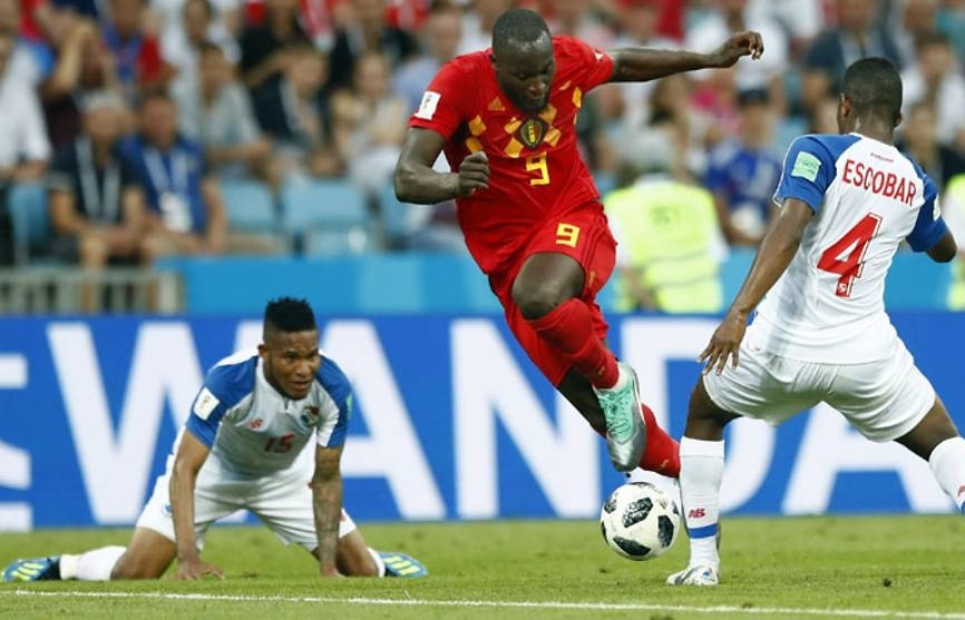 world cup lukaku scores twice as belgium prove too strong for panama
