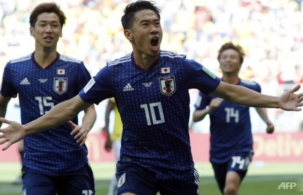 world cup japan beat 10 man colombia to create history