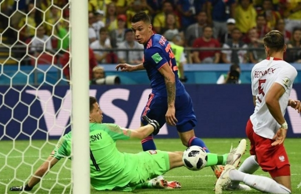 colombia win 3 0 to knock poland out of world cup
