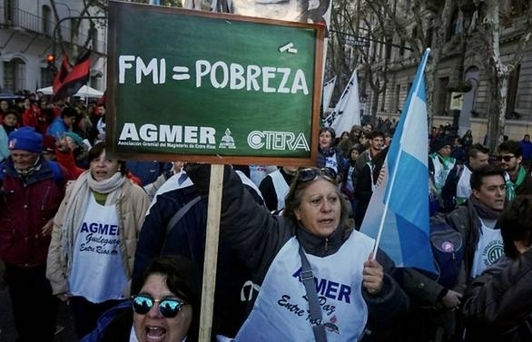 argentina paralysed by anti imf deal strike