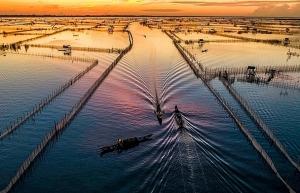 discovering magnificent sunrise of chuon lagoon