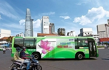 hcm city to try again to auction advertising space on buses