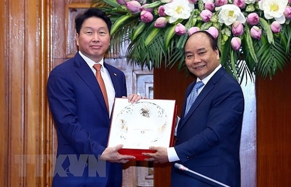 vietnam welcomes sk groups investment pm