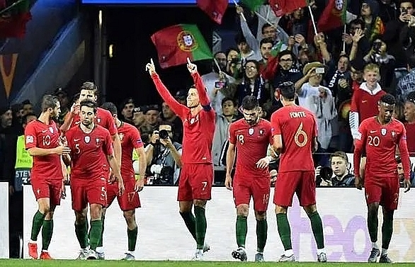 ronaldos hat trick sends portugal into nations league final