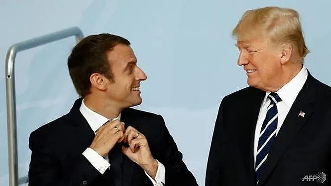 macron and trump frenemies in open disagreement