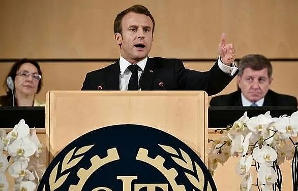 macron warns on capitalism gone mad in ilo speech
