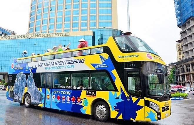 quang ninh launches double decker buses for tourism