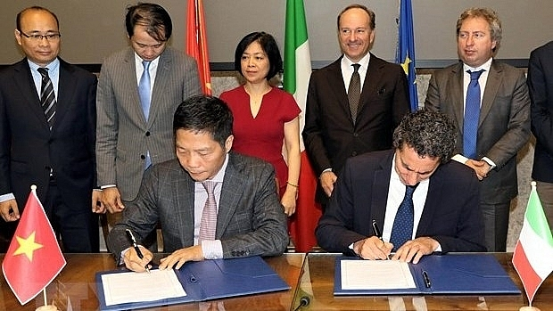 italy vietnam sign mou on energy cooperation