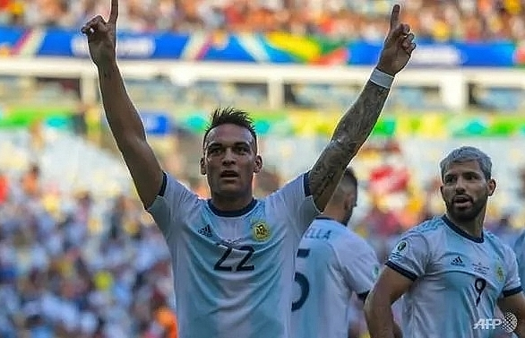 martinez lo celso goals earn argentina copa semi against brazil