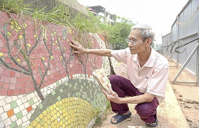 part of hanoi ceramic mural to be demolished