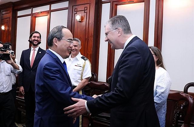 hcm city leader hosts us ambassador